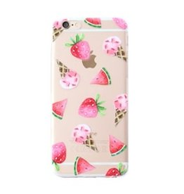 With love Iphone 7 plus cover - ice cream  transparant