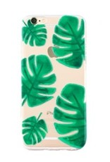 With love Iphone 6 cover -  palm leaf transparant