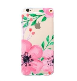 With love Iphone 6 cover -  flower transparant