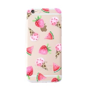 With love Iphone 5 cover -  ice cream & fruit transparant