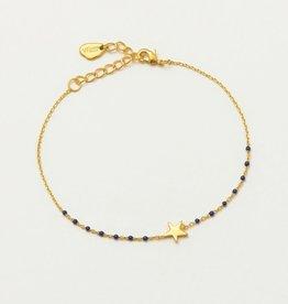 Estella Bartlett Enamel dot bracelet navy - gold plated