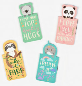 Legami Never stop reading - magnetic bookmarks - animals