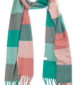 With love Checkered scarf 170 x 31 cm - multi color