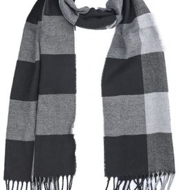 With love Checkered scarf 170 x 31 cm - grey