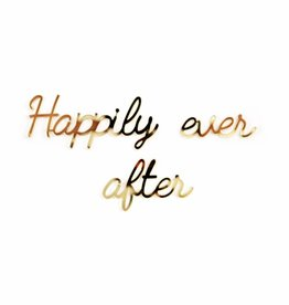 Goegezegd Quote 'Happily ever after' black