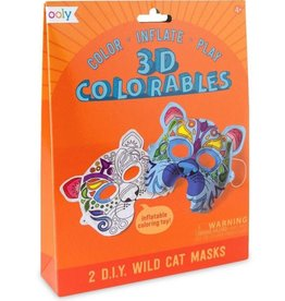 Ooly 3D Colorable Wild cats masks