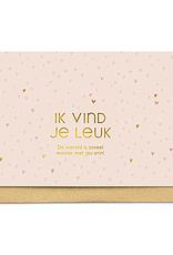 Enfant Terrible Enfant Terrible card  + enveloppe 'ik vind je leuk'