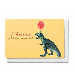 Enfant Terrible Enfant Terrible card  + enveloppe 'Hoera gelukkige verjaardag!'
