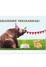 Enfant Terrible Enfant Terrible card  + enveloppe 'Gelukkige verjaardag!' beer