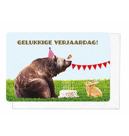 Enfant Terrible Enfant Terrible card  + enveloppe 'Gelukkige verjaardag!'