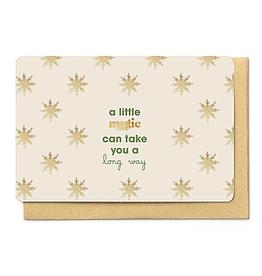 Enfant Terrible Enfant Terrible card + enveloppe 'A little magic can take you a long way'