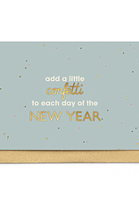 Enfant Terrible Enfant Terrible card + enveloppe 'Add a little confetti to each day of the new year'