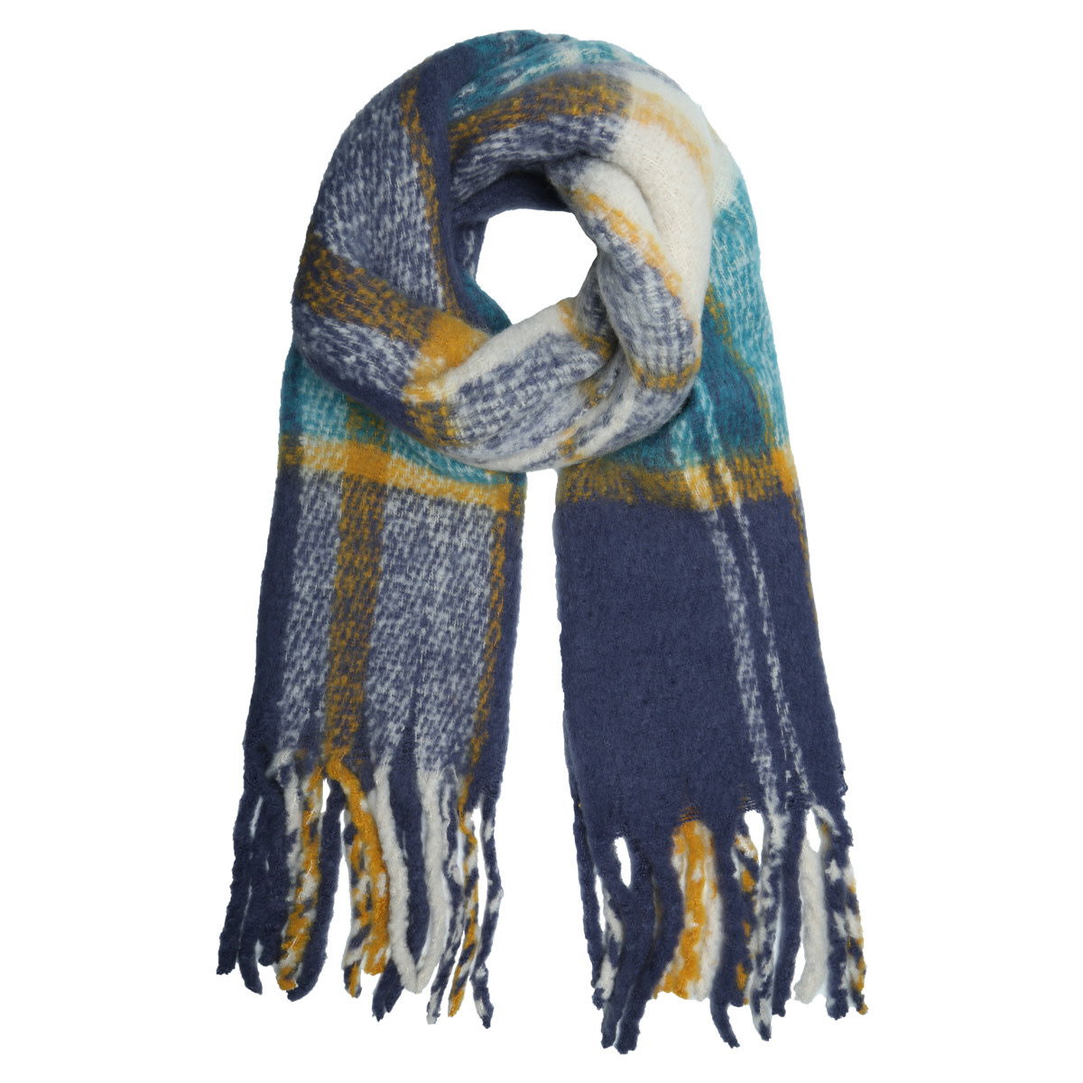 With love Scarf 'keep me warm'  blue