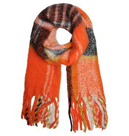 With love Scarf 'keep me warm'  orange