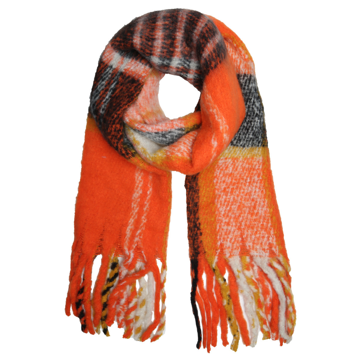 With love Scarf 'keep me warm'  orange