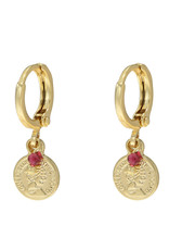 With love Earrings Little queen gold