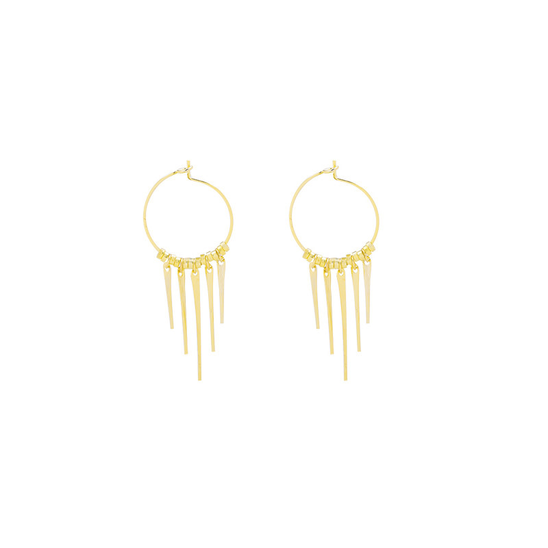 With love Earrings tiny spikes