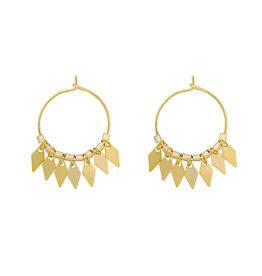 With love Earrings dancing diamonds gold