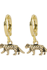 With love Earrings lucky leopard