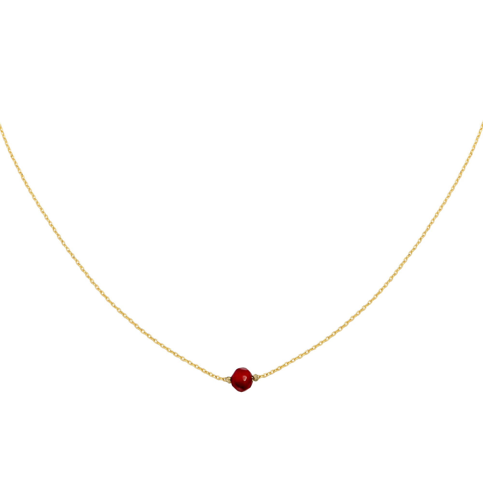 With love Necklace little one - gold red