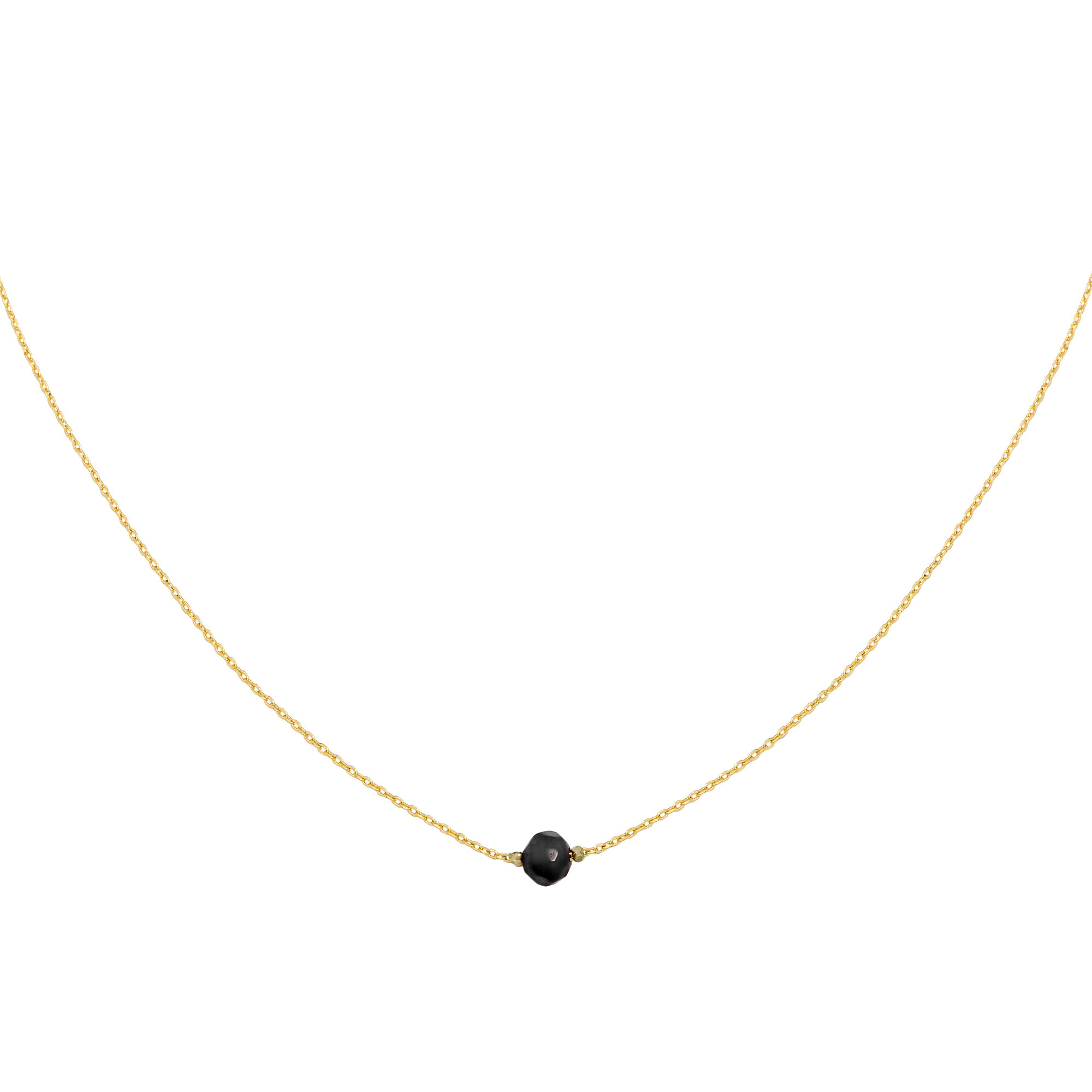 With love Necklace little one - gold black