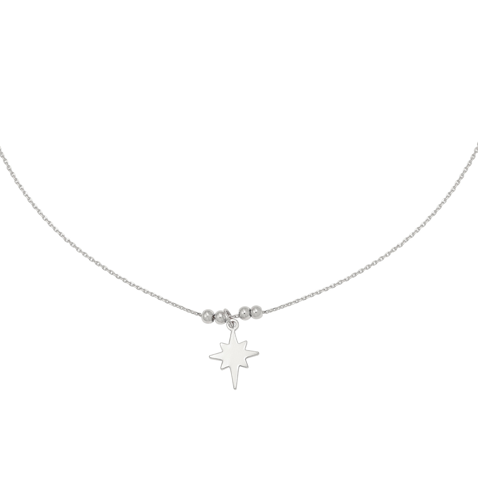 With love Necklace Be my star silver