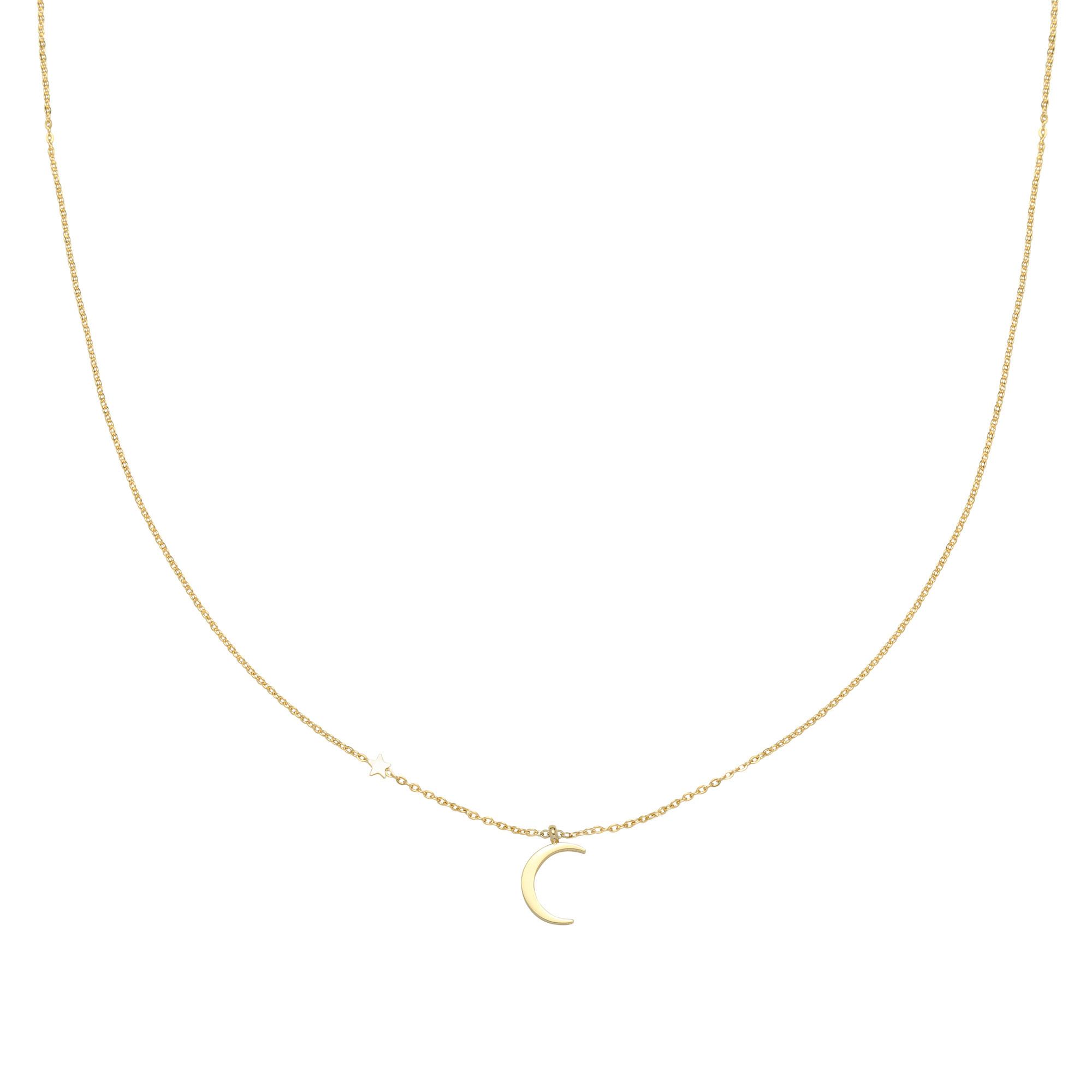 With love Necklace moonlight gold