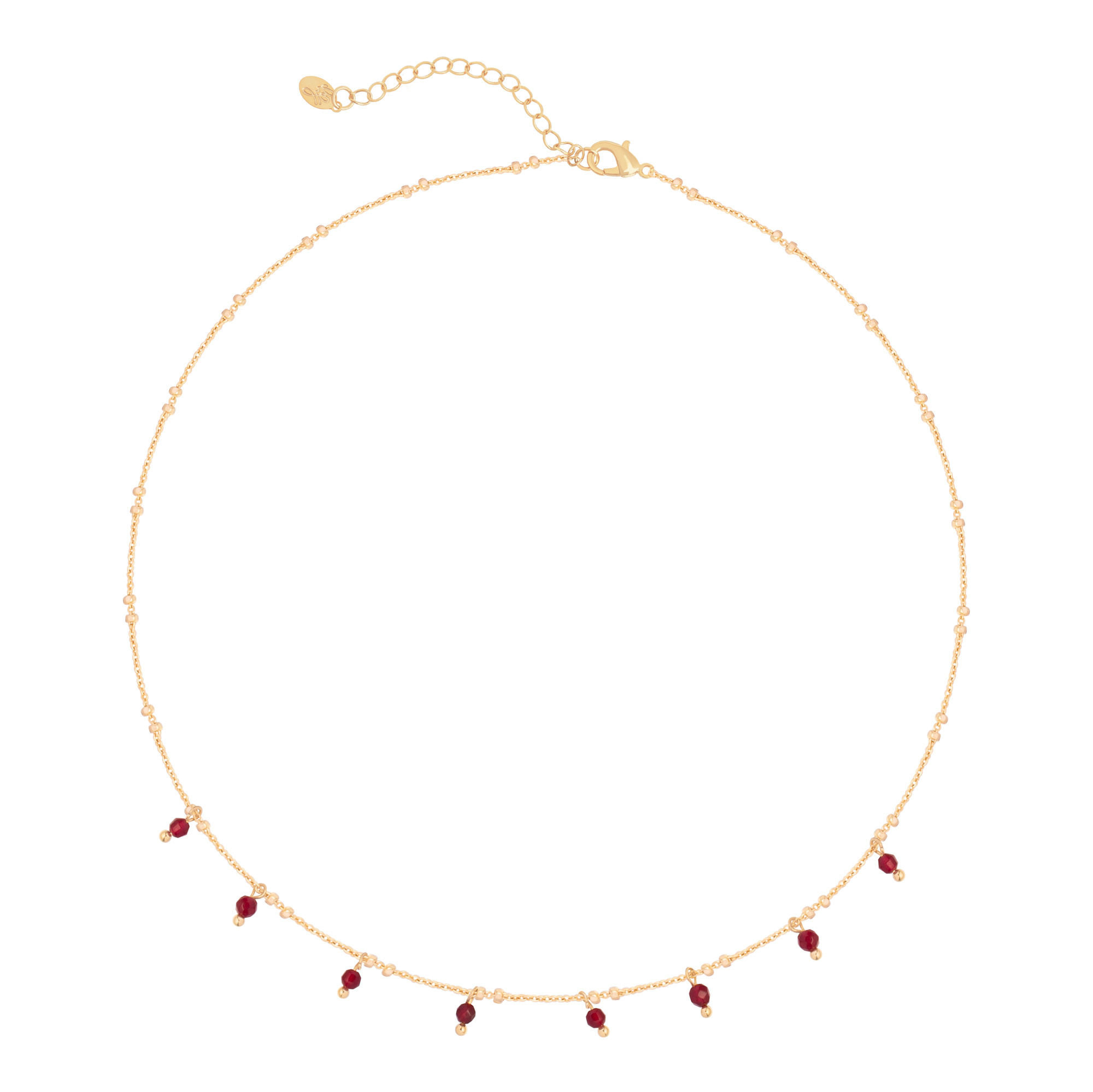 With love Necklace heartbeats - red gold