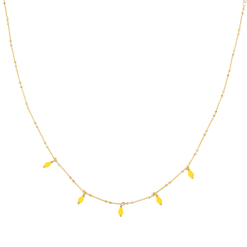 With love Necklace Venus tears - yellow gold