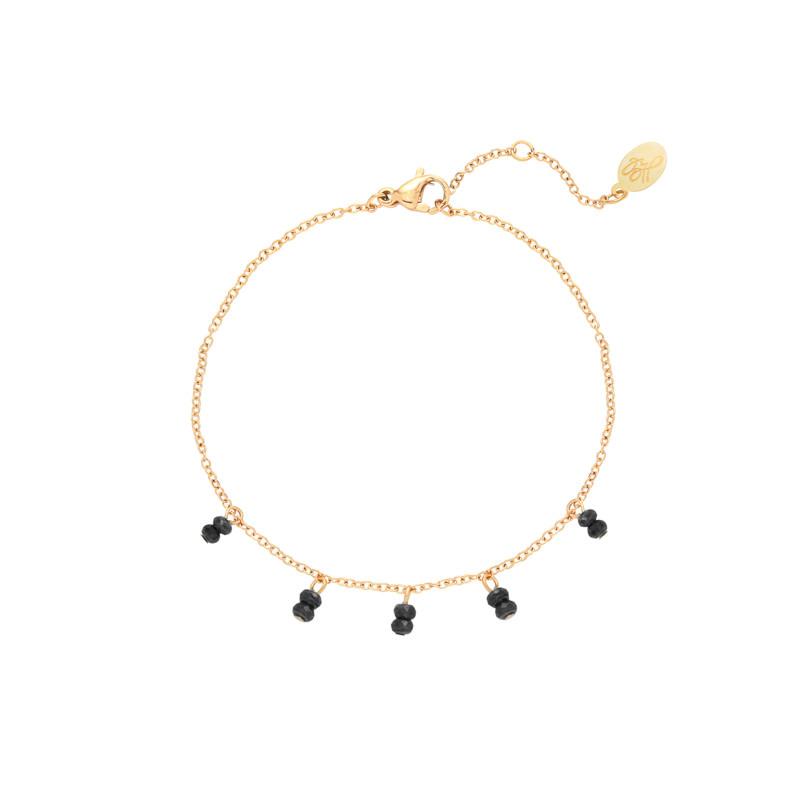 With love Bracelet swirl - black gold