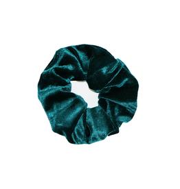 With love Scrunchie velvet - green