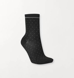 Becksondergaard Darsi shiny dots socks - black 37/39
