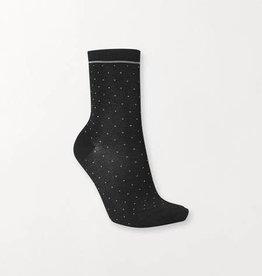Becksondergaard Darsi shiny dots socks - black 39/41