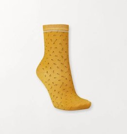 Becksondergaard Darsi shiny dots socks - golden yellow 37/39