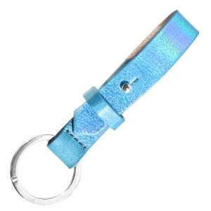 With love With Love keychain leather - holographic blue