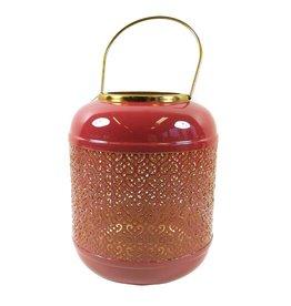 Florissima Metal lantern burgundy 21 x 26 cm