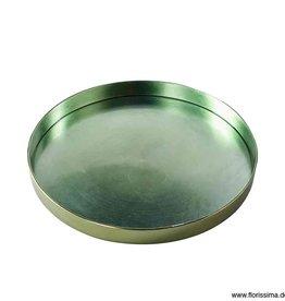 Florissima Plastic tray - metallic green 32 cm