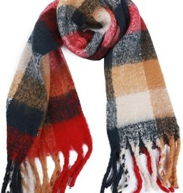 With love Keep me warm scarf camel - red