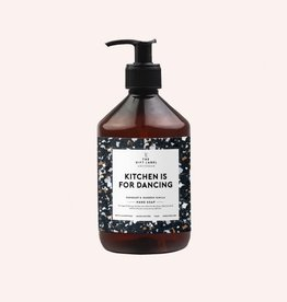 The Gift Label Hand soap 500 ml - kitchen is for dancing (black)