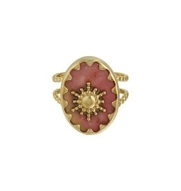 With love With Love ring - ray of light - gold stone