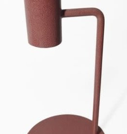 Branded By Candle holder 15 cm brown - pink