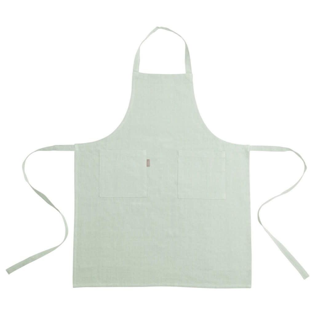Linen & More Linen apron green