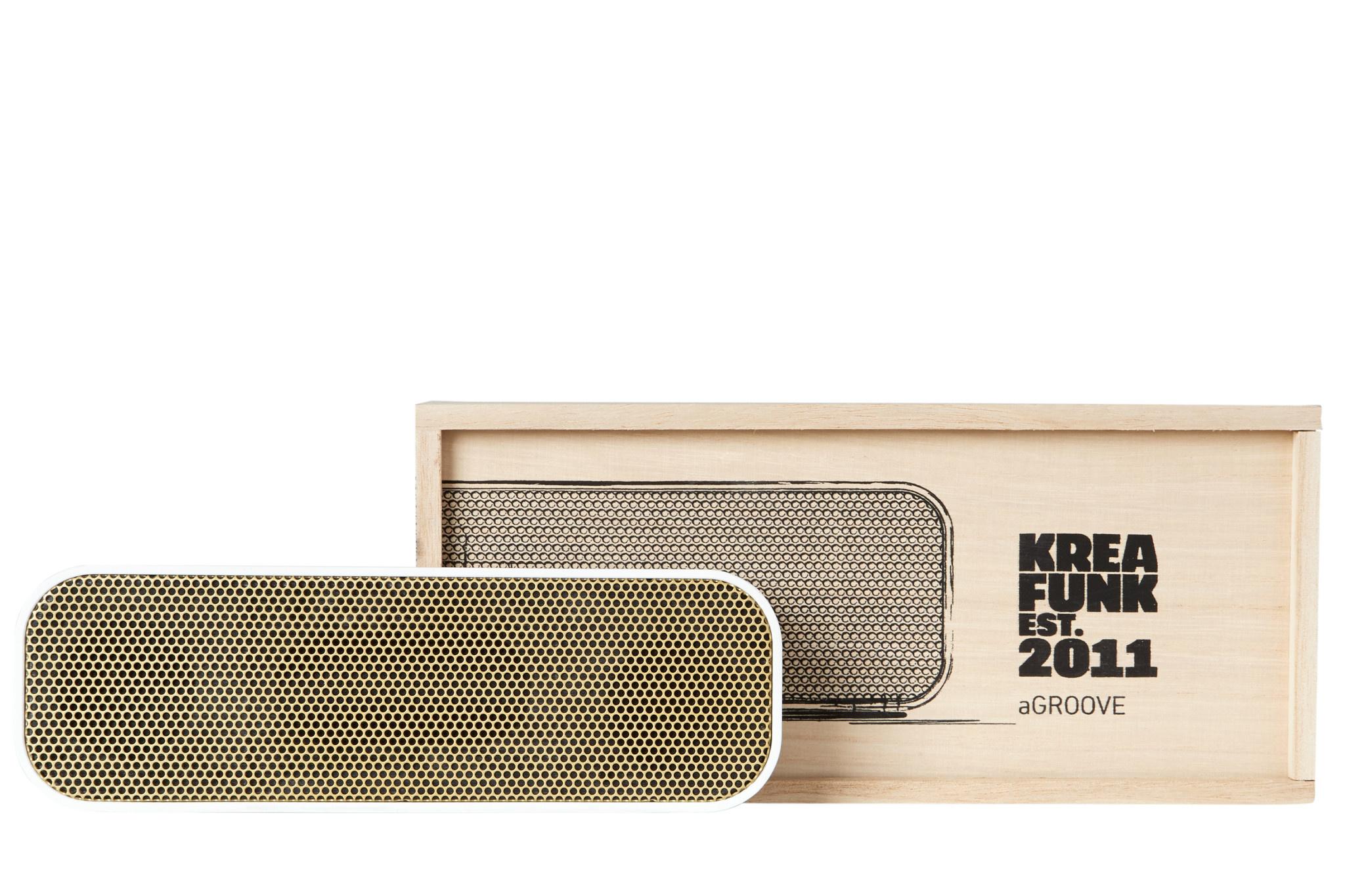 Kreafunk Kreafunk aGroove bluetooth speaker white - gold