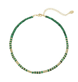 With love Necklace power to the stone - gold green