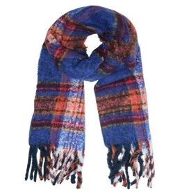 With love Scarf cosy winter blue