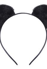 With love Headband furry kitty - black