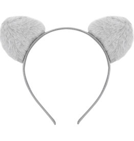 With love Headband furry kitty - grey