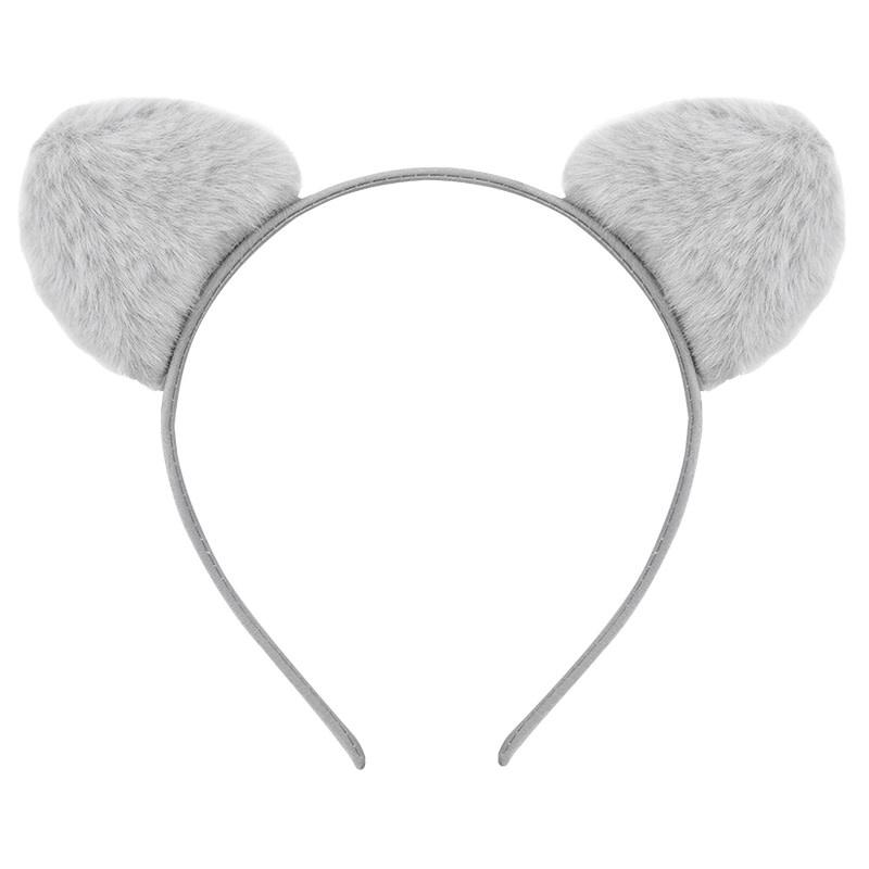 With love Headband furry kitty - grey