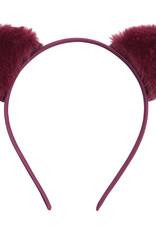 With love Headband furry kitty - burgundy