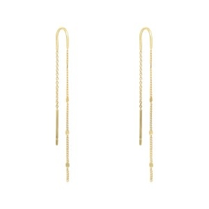 With love Earrings delicate gold